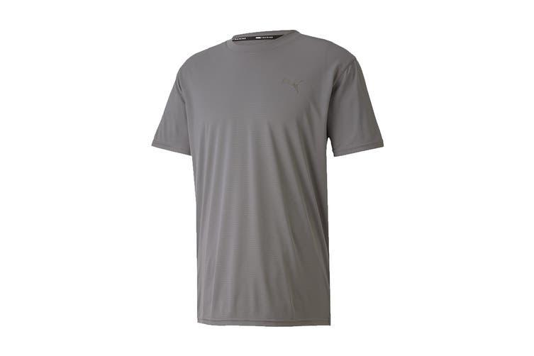 Puma Men's Train Favorite Blaster Short Sleeve Tee (Castlerock, Size L)