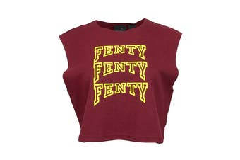 Puma Women's Sleeveless Fenty Cropped Top (Burgundy)