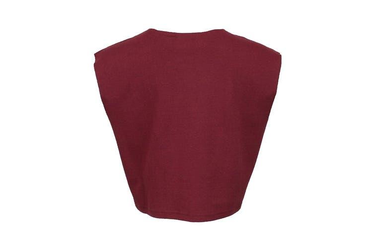 Puma Women's Sleeveless Fenty Cropped Top (Burgundy, Size XS)