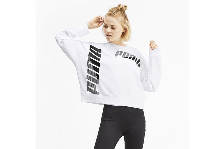 Puma Women's MODERN SPORT Crew Sweat (Puma White, Size XL)