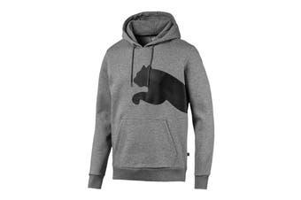 Puma Men's Big Logo Hoody FL (Medium Gray Heather, Size XL)