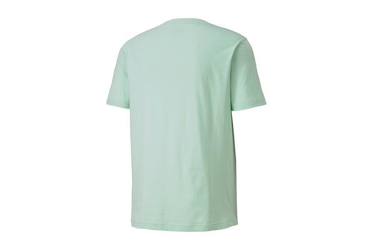 Puma Men's ATHLETICS Tee Big Logo (Mist Green, Size S)