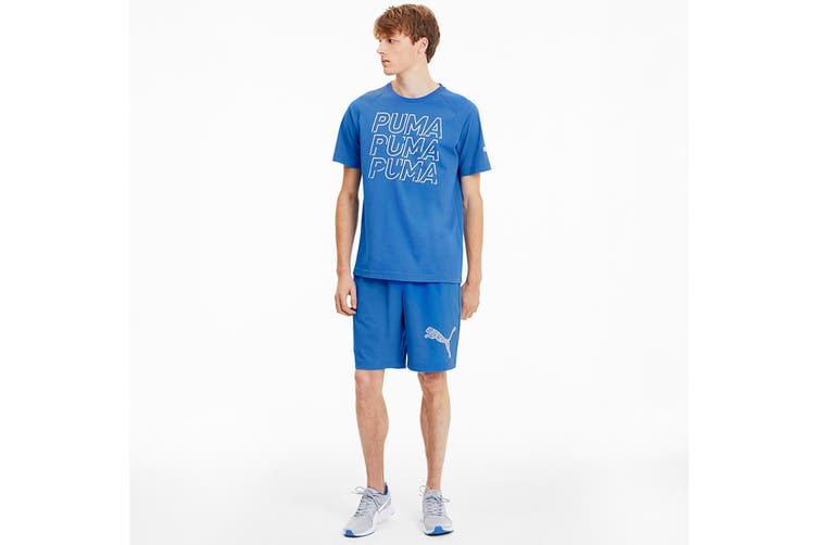 Puma Men's MODERN SPORTS Logo Tee (Palace Blue, Size XXL)