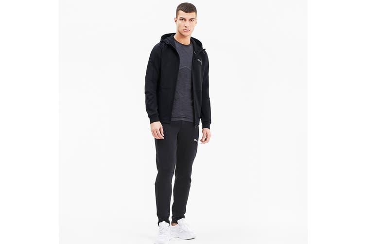 Puma Men's EVOSTRIPE FZ Hoodie (Puma Black, Size XL)