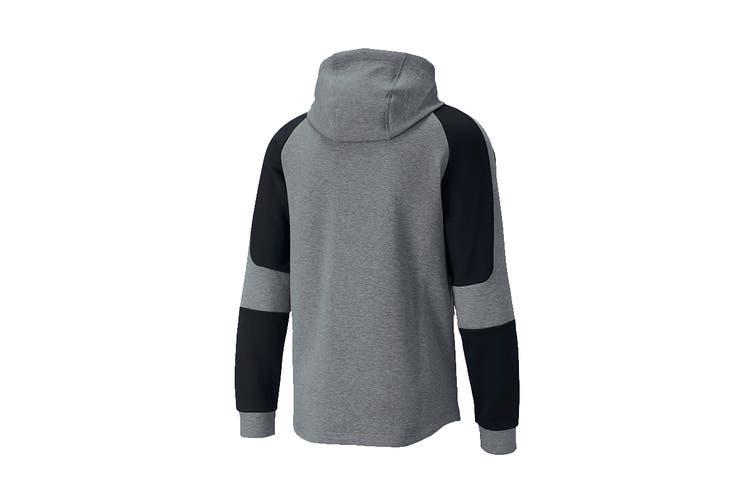 Puma Men's EVOSTRIPE FZ Hoodie (Medium Gray Heather, Size XXL)