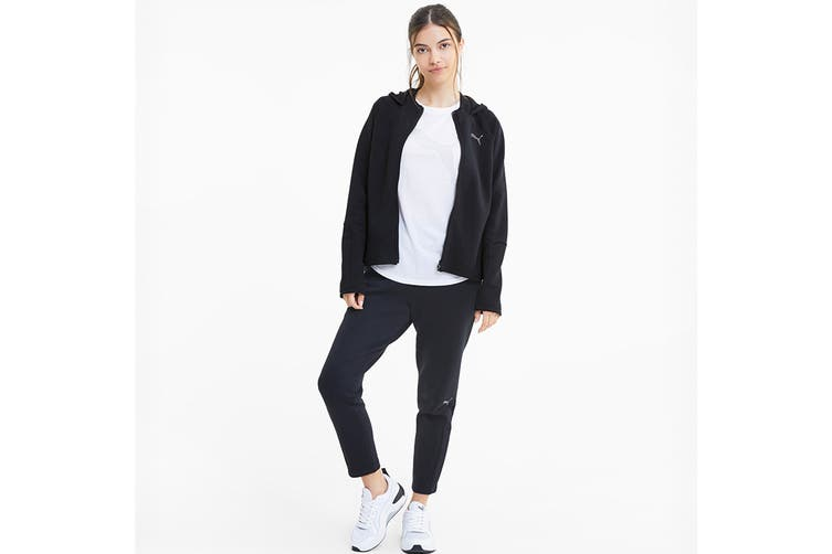Puma Women's Evostripe Full-Zip Hoodie (Puma Black, Size S)