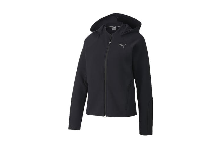 Puma Women's Evostripe Full-Zip Hoodie (Puma Black, Size XL)