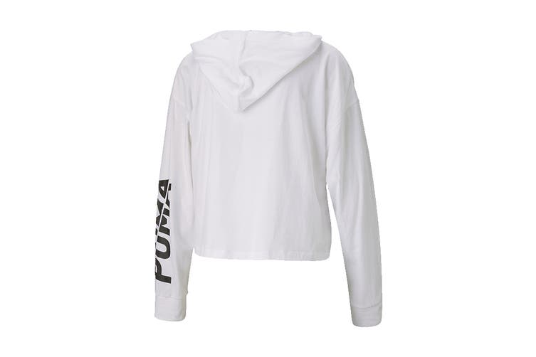 Puma Women's Modern Sports Lightweight Hoodie (Puma White, Size XL)