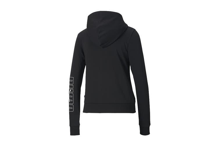 Puma Women's Rebel Full-Zip Hoodie TR (Puma Black, Size S)