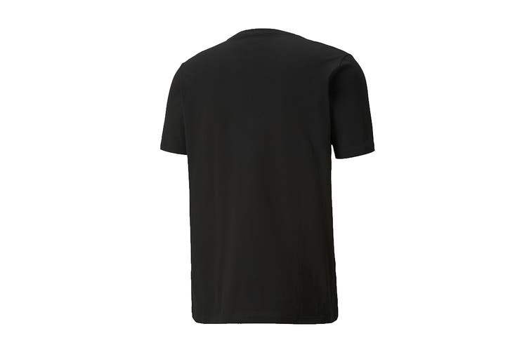 Puma Men's Cat Box Tee (Puma Black, Size XXL)