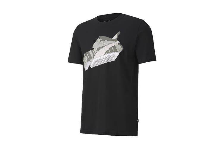 Puma Men's Sneaker Inspired Tee (Puma Black, Size XXL)