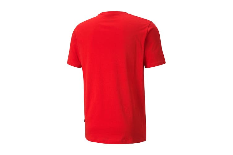 Puma Men's Sneaker Inspired Tee (High Risk Red, Size S)
