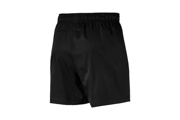 """Puma Men's Active Woven Short 5"""" (Puma Black, Size L)"""