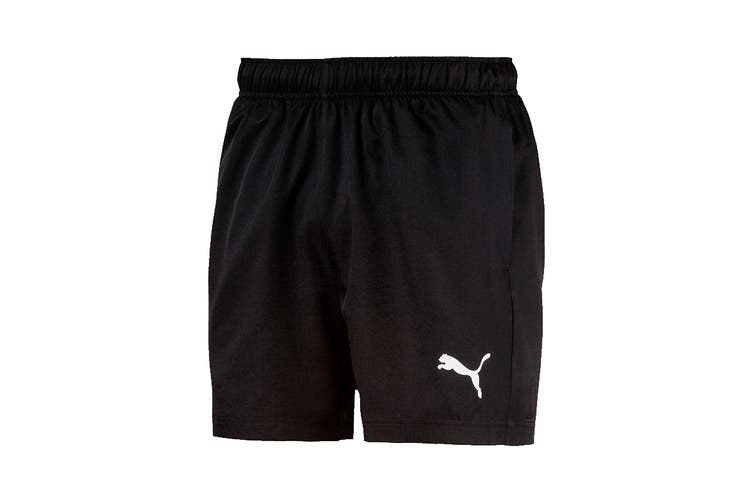 "Puma Men's Active Woven Short 5"" (Puma Black, Size XXL)"