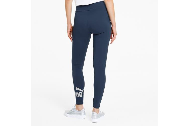 Puma Women's ESS Logo Leggings (Dark Denim, Size XS)