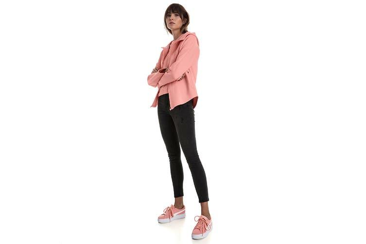 Puma Women's Evostripe Move Hooded Jacket (Peach Bud, Size XL)