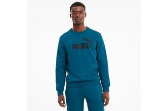Puma Men's ESS+ Crew Sweat FL Big Logo (Digi/Blue, Size L)