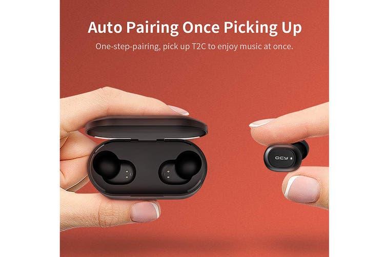 QCY T2C True Wireless Earbuds (Black)