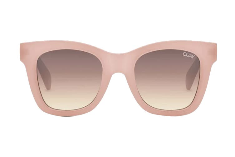 Quay AFTER Sunglasses (Pink, Size 57-24-149) - Brown Flash