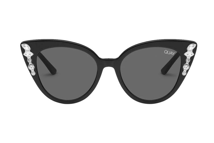 Quay AUDACIOUS Sunglasses (Black, Size 52-17-146) - Smoke