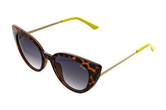 Quay AUDACIOUS Sunglasses (Tortoise, Size 52-17-146) - Smoke