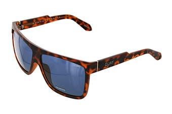 Quay BARNUN Sunglasses (Matte Tortoise, Size 54-14-144) - Navy