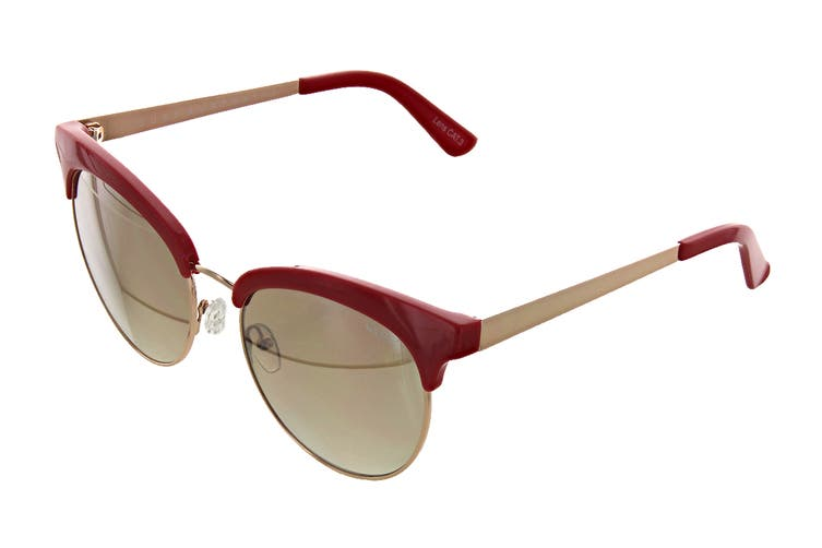 Quay CHERRY Sunglasses (Red, Size 56-18-148) - Brown Flash