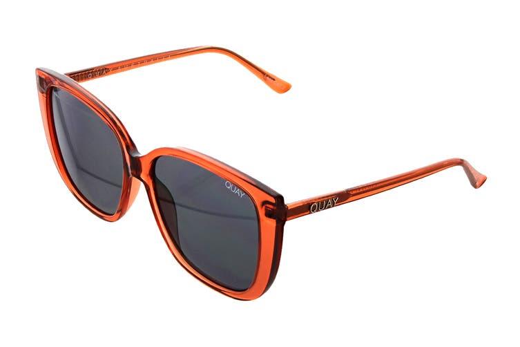 Quay EVER Sunglasses (Cinnamon, Size 59-16-146) - Smoke