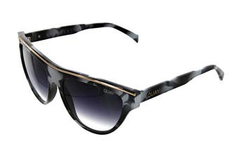Quay FLIGHT Sunglasses (Black White Tortoise, Size 50-13-150) - Black Fade