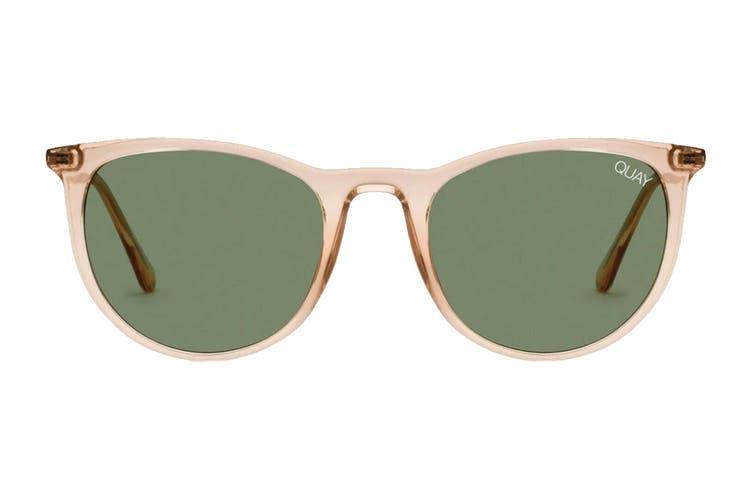 Quay GREAT Sunglasses (Champagne, Size 45-20-146) - Green