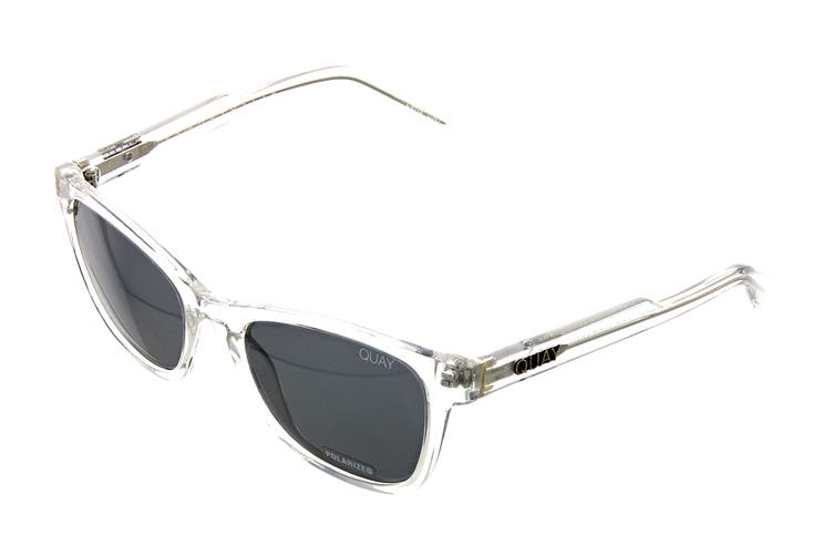 Quay HARDWIRE Sunglasses (Clear, Size 45-21-142) - Smoke