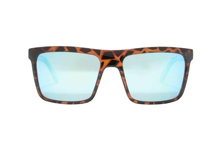 Quay LET It Run Sunglasses (Tortoise, Size 51-19-145) - Blue