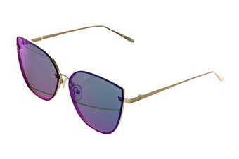 Quay LEXI Sunglasses (Gold, Size 62-15-148) - Pink