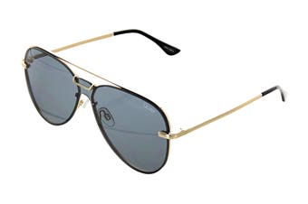 Quay NOTORIOUS Sunglasses (Gold, Size 56-18-145) - Smoke