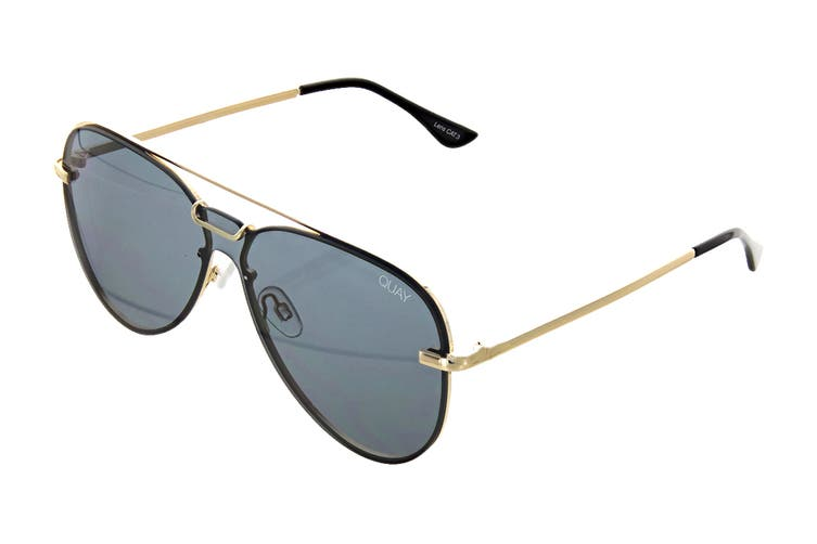 Quay NOTORIOUS Sunglasses (Gold, Size 56-18-145) - Smoke