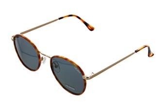 Quay OMEN Sunglasses (Orange Tortoise, Size 45-21-128) - Navy