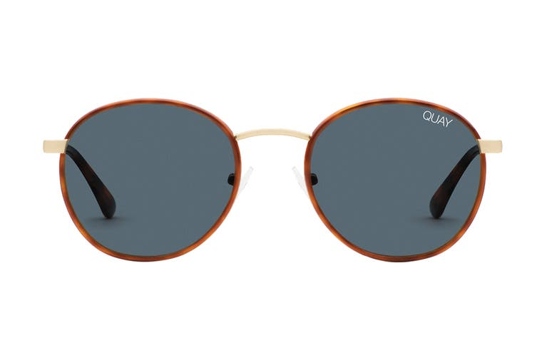 Quay OMEN Sunglasses (Orange Tortoise, Size 45-21-128) - Navy