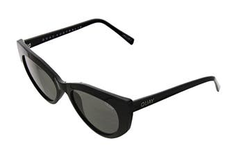 Quay PERSUASIVE Sunglasses (Black, Size 55-21-145) - Smoke