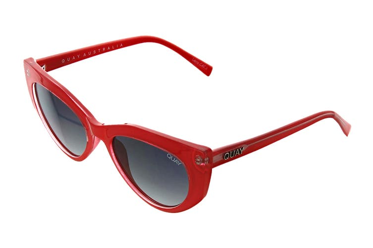 Quay PERSUASIVE Sunglasses (Red, Size 55-21-145) - Smoke