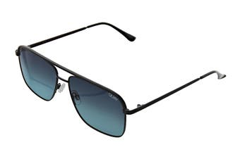 Quay POSTER Boy Sunglasses (Black, Size 60-21-145) - Teal Fade
