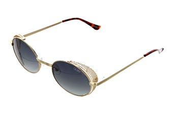 Quay SIDE Eye Sunglasses (Gold, Size 42-22-143) - Smoke