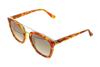 Quay SWEET Dreams Sunglasses (Orange Tortoise, Size 55-23-149) - Gold