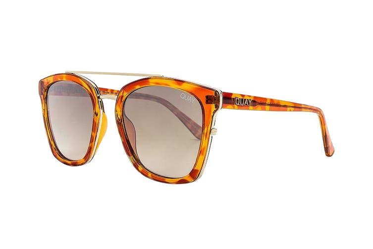 Quay SWEET Dreams Sunglasses (Orange Tortoise, Size 55-23-149) - Gold
