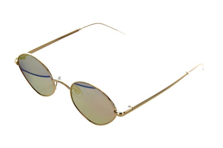 Quay WILD Night Sunglasses (Gold, Size 55-26-144) - Peach Pink