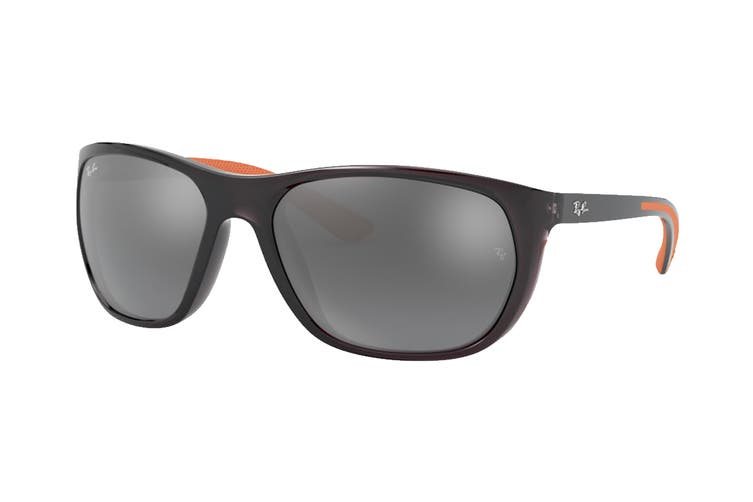 Ray Ban 0RB4307 Sunglasses(Transparent Grey/Grey) - Grey Gradient Mirror