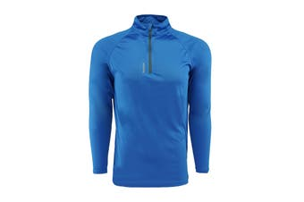 Reebok Men's Play Dry 1/4 Zip Jacket (Royal)