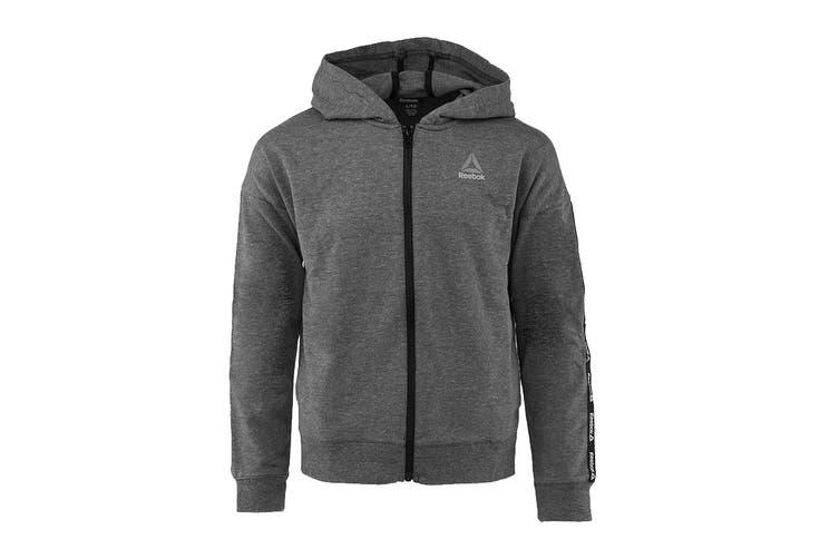 Dick Smith   Reebok Girls' Active Full Zip Hoodie (Black, Size 6, 5-6  Years)   Hoodies & Sweatshirts