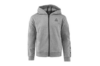 Reebok Girls' Active Full Zip Hoodie (Heather Grey)