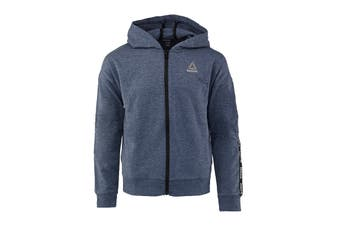 Reebok Girls' Active Full Zip Hoodie (Medieval Blue)