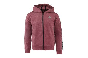Reebok Girls' Active Full Zip Hoodie (Dark Berry)